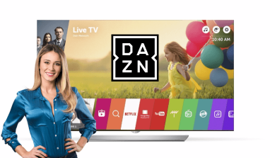 Come vedere DAZN su Smart TV LG: l'app da installare