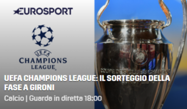 Sorteggi Champions League, diretta streaming gratis e tv: dove vederli