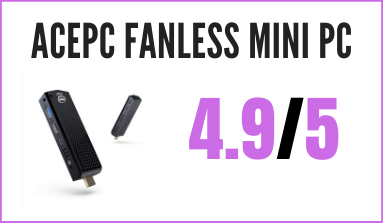 Recensione ACEPC Fanless Mini PC Windows 10 Pro Bluetooth