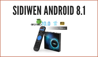 Recensione Decoder Sidiwen Android 8.1 TV Box F1